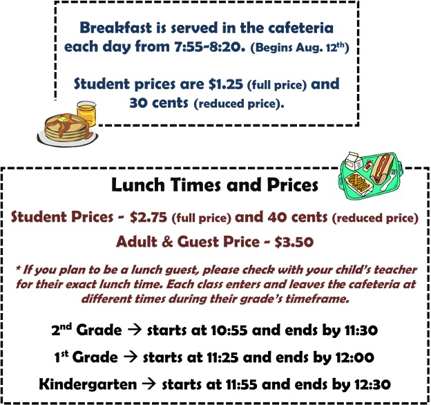Meal Times and Prices