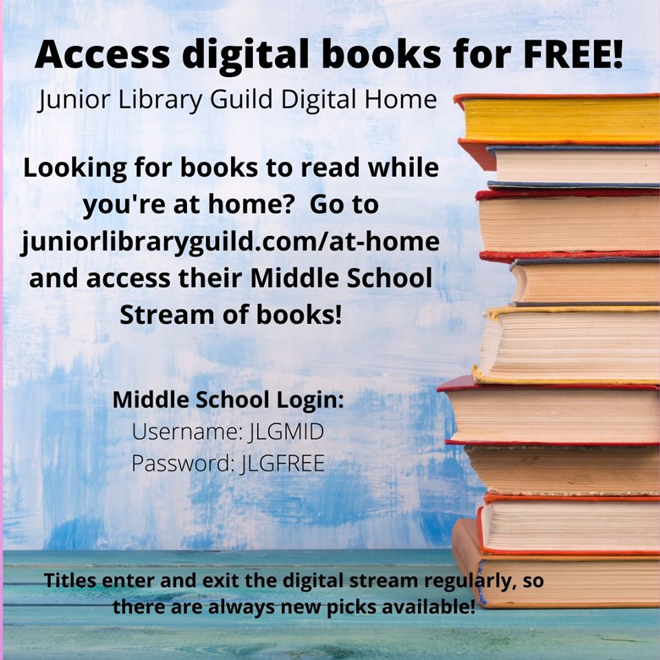 Access to free ebooks through JLG