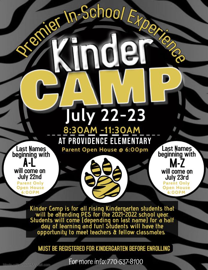 Kinder Camp Flyer