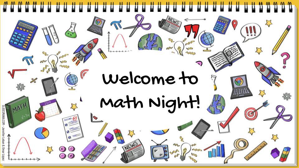 Title I Math Night Title Page