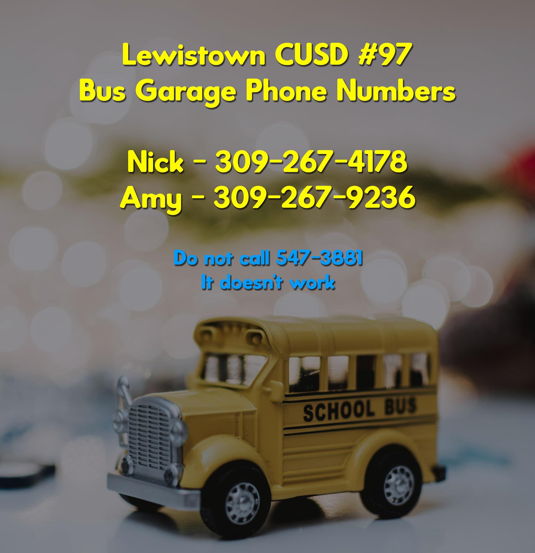 Bus Garage Contact Numbers