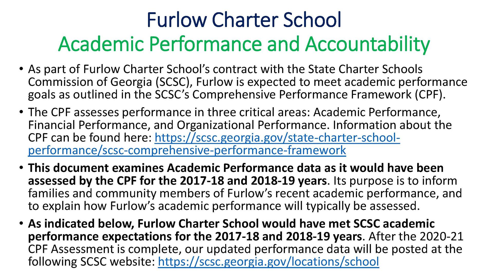 Furlow CPF Academics Statistics pg 1