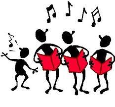 Stick figures singing