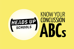 Know Your Concussion ABCs image and link