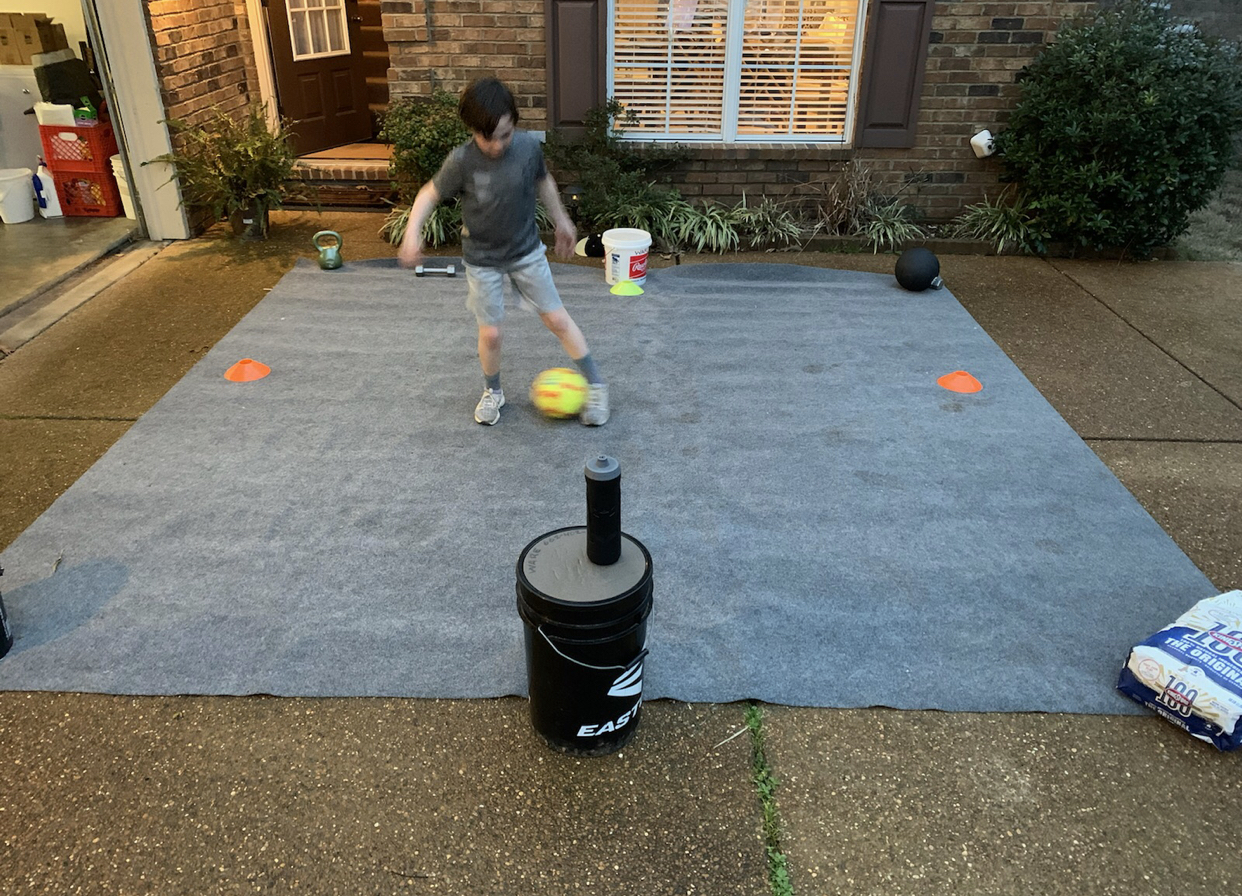 Clay working on his soccer drills!