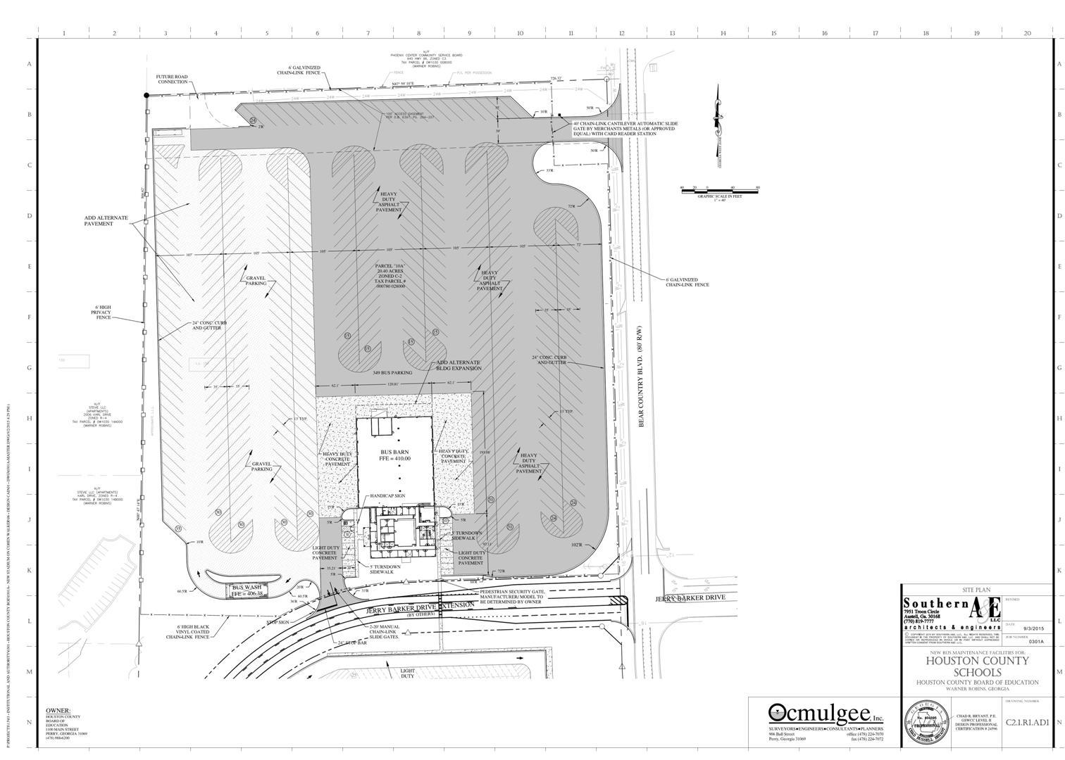 Central Bus Facility Site Plan