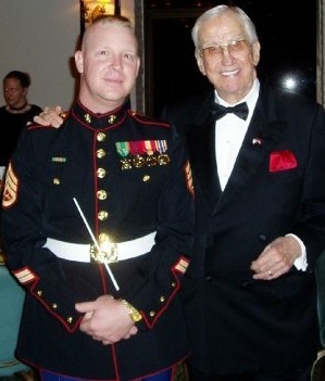 Ed McMahon of the Tonight Show with Johnny Carson. This was the first Birthday Ball performance I ever  conducted. Mr. McMahon was a Marine Colonial and Pilot back in the day.