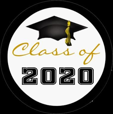 "Picture of graduation cap and says ""class of 2020."""