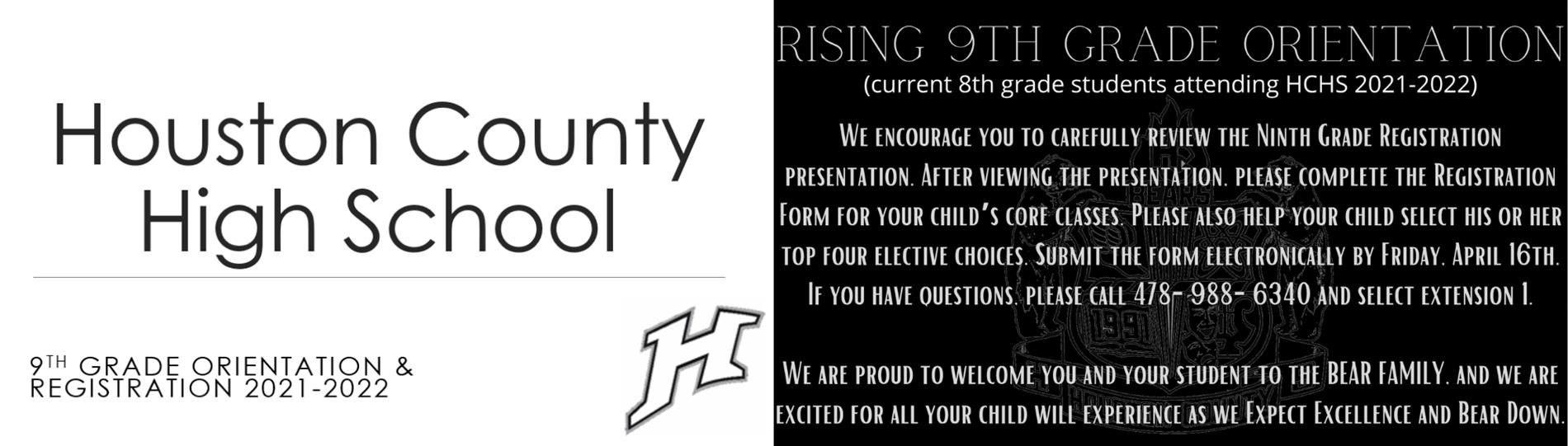 8th Grade Registration Information