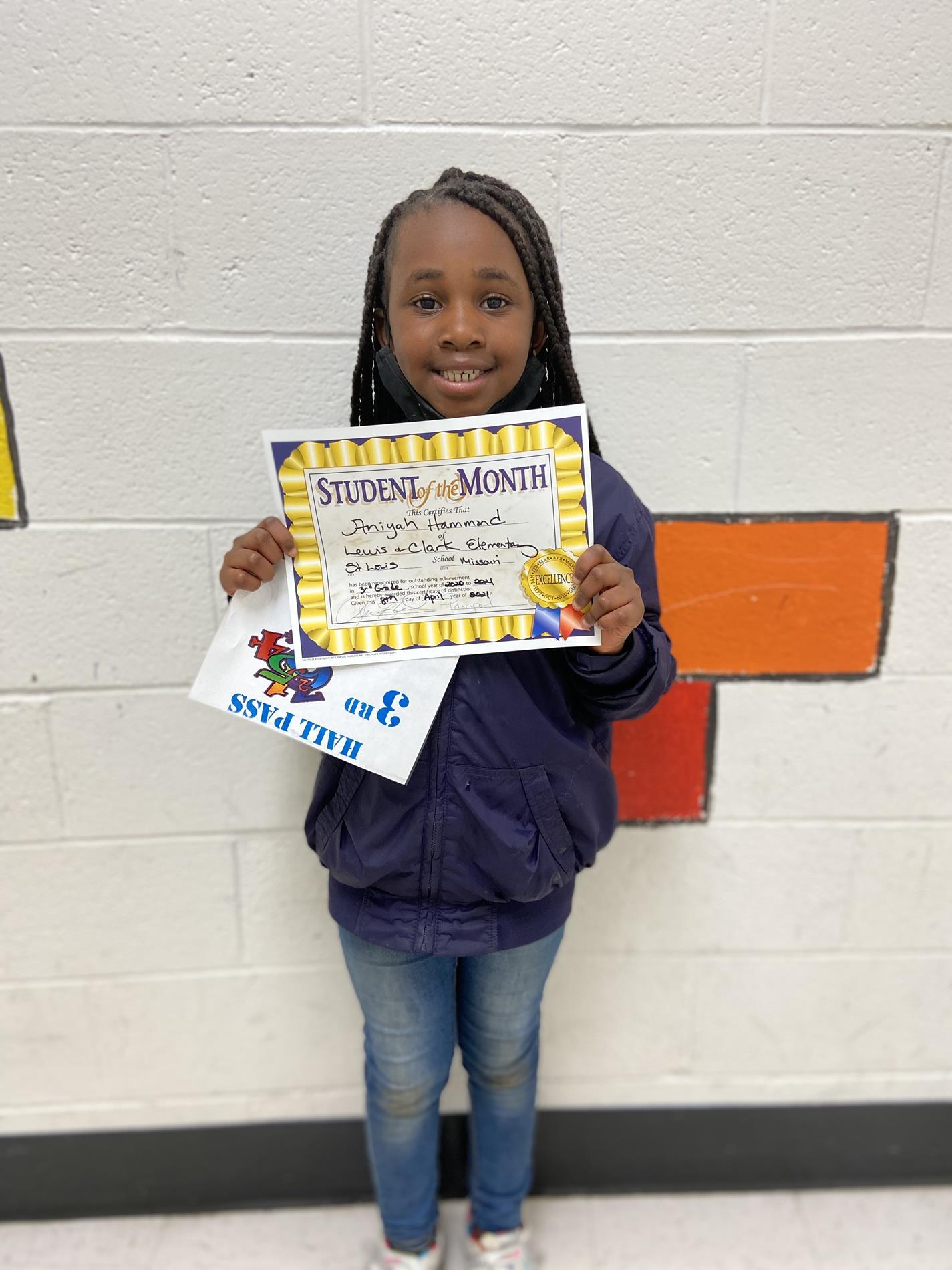 Aniyah Hammond 3rd Grade