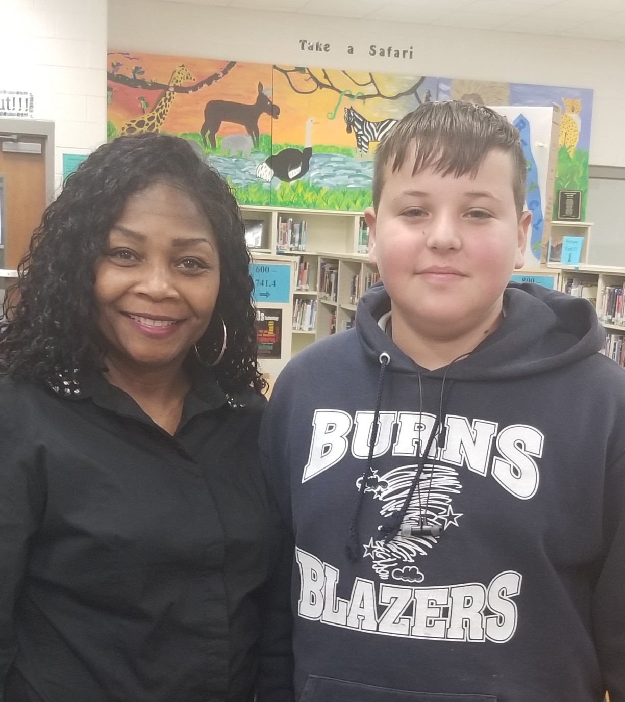 Spelling Bee Winner and Mrs. Johnson