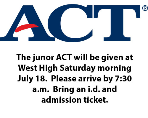 Junior ACT given 7/18/2020