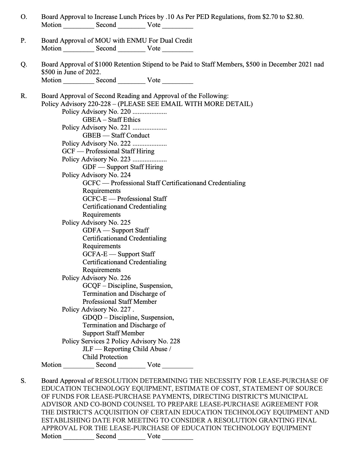 July Board Meeting pg 2