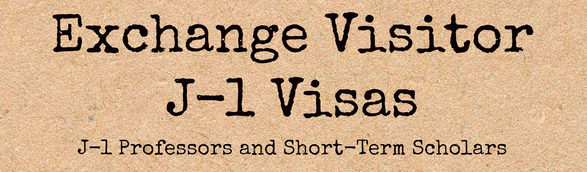 Exchange Visitor Banner