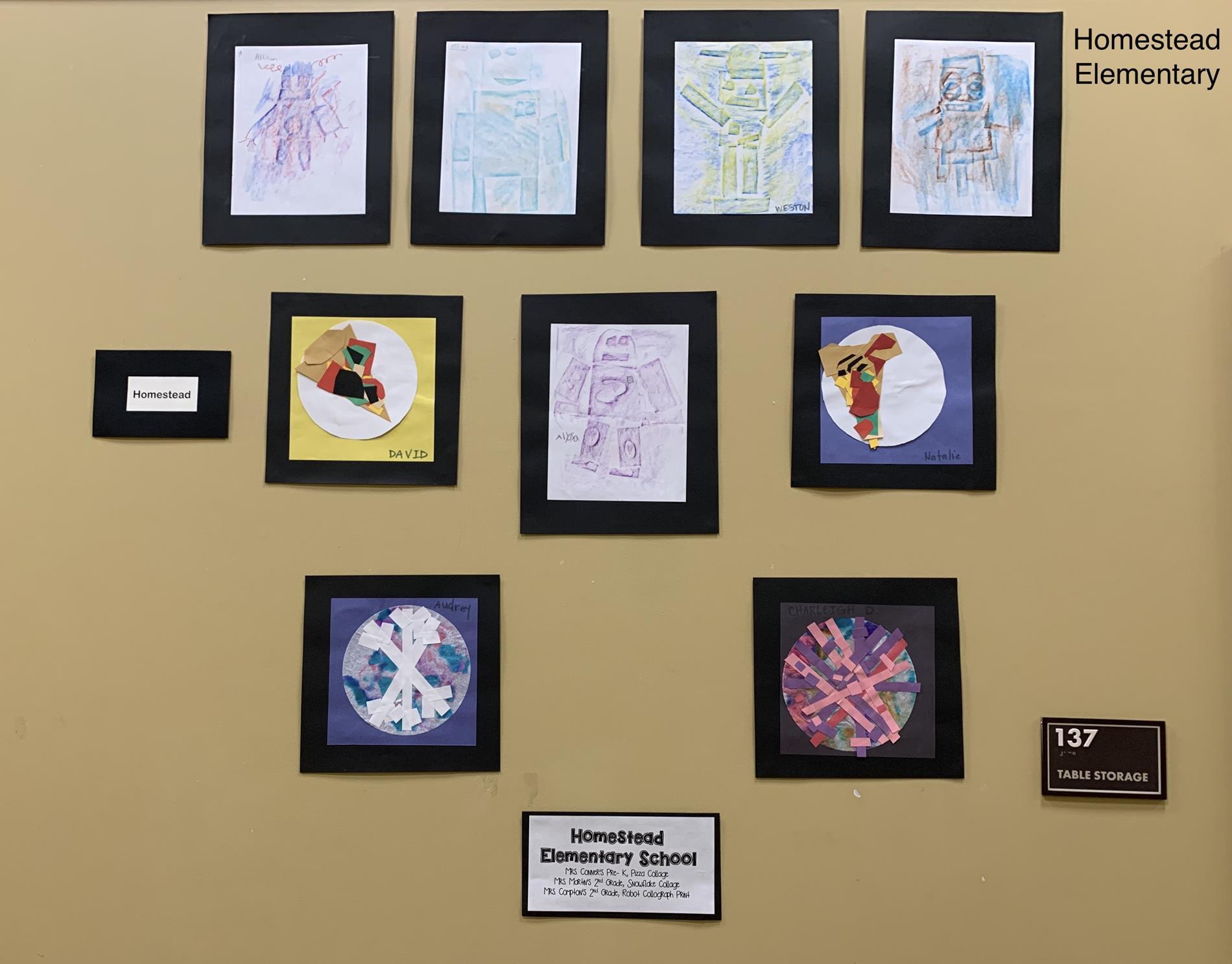 Homestead Elementary Art Work