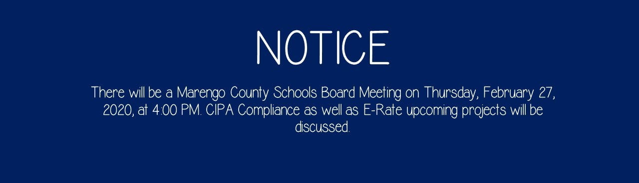 Public Notice - Erate Meeting and CIPA Compliance
