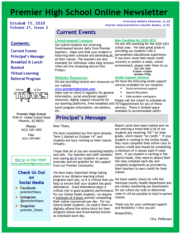 Newsletter page 1 10.15.20