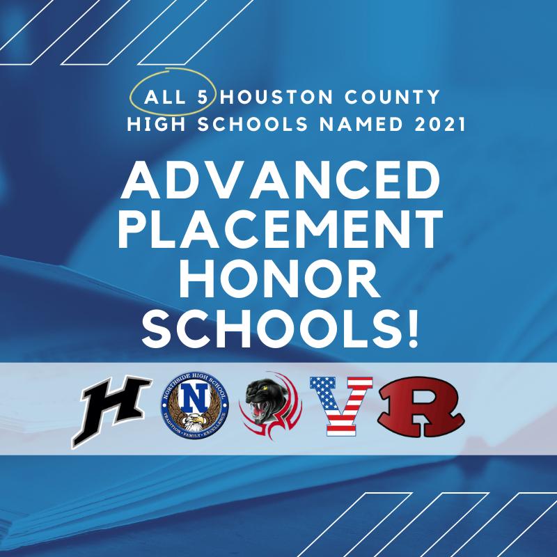 All Five High Schools Named AP Honor Schools