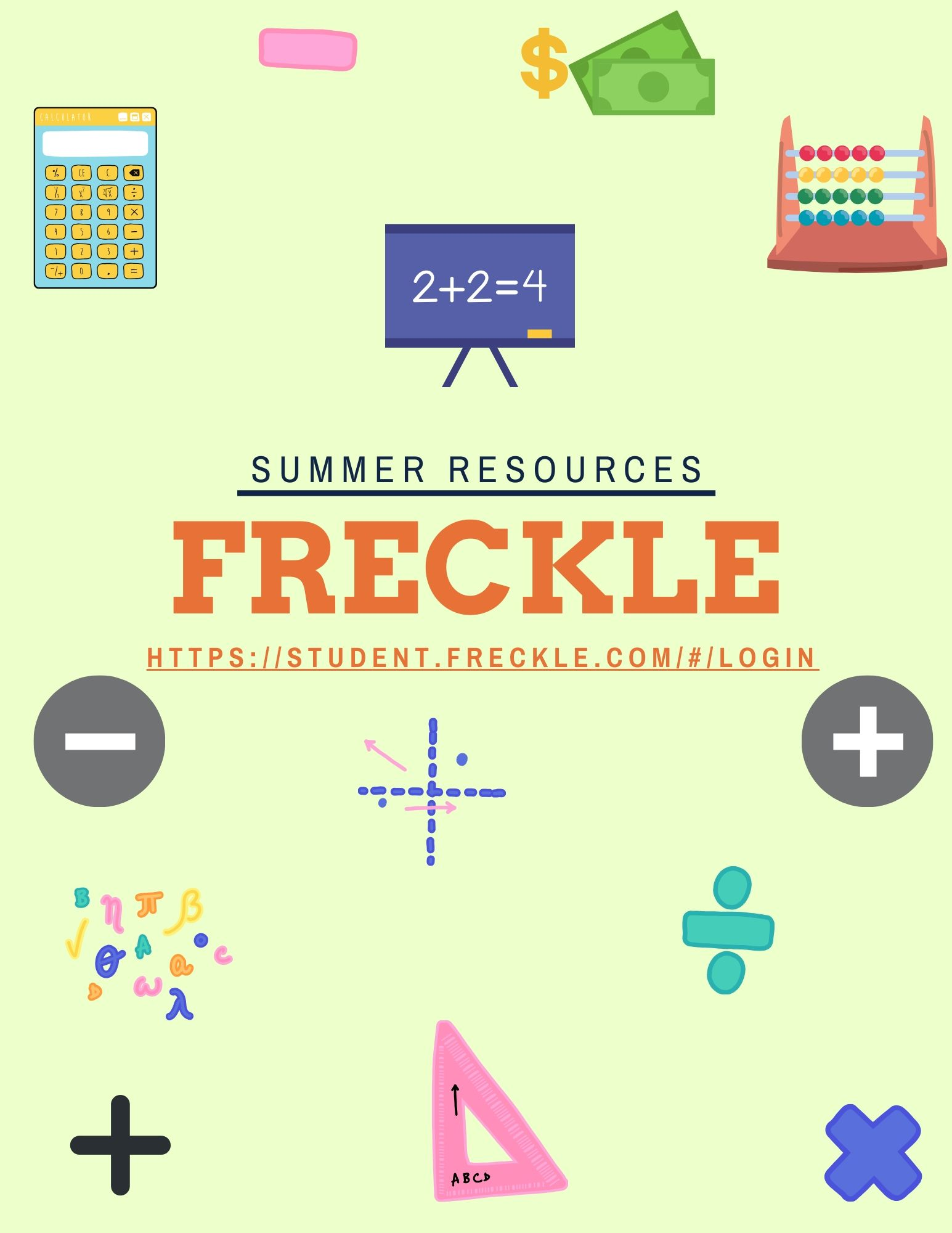 Freckle Student Dashboard