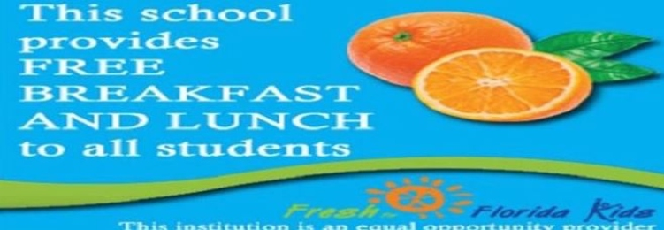 This school provides free lunch and breakfast to all students.
