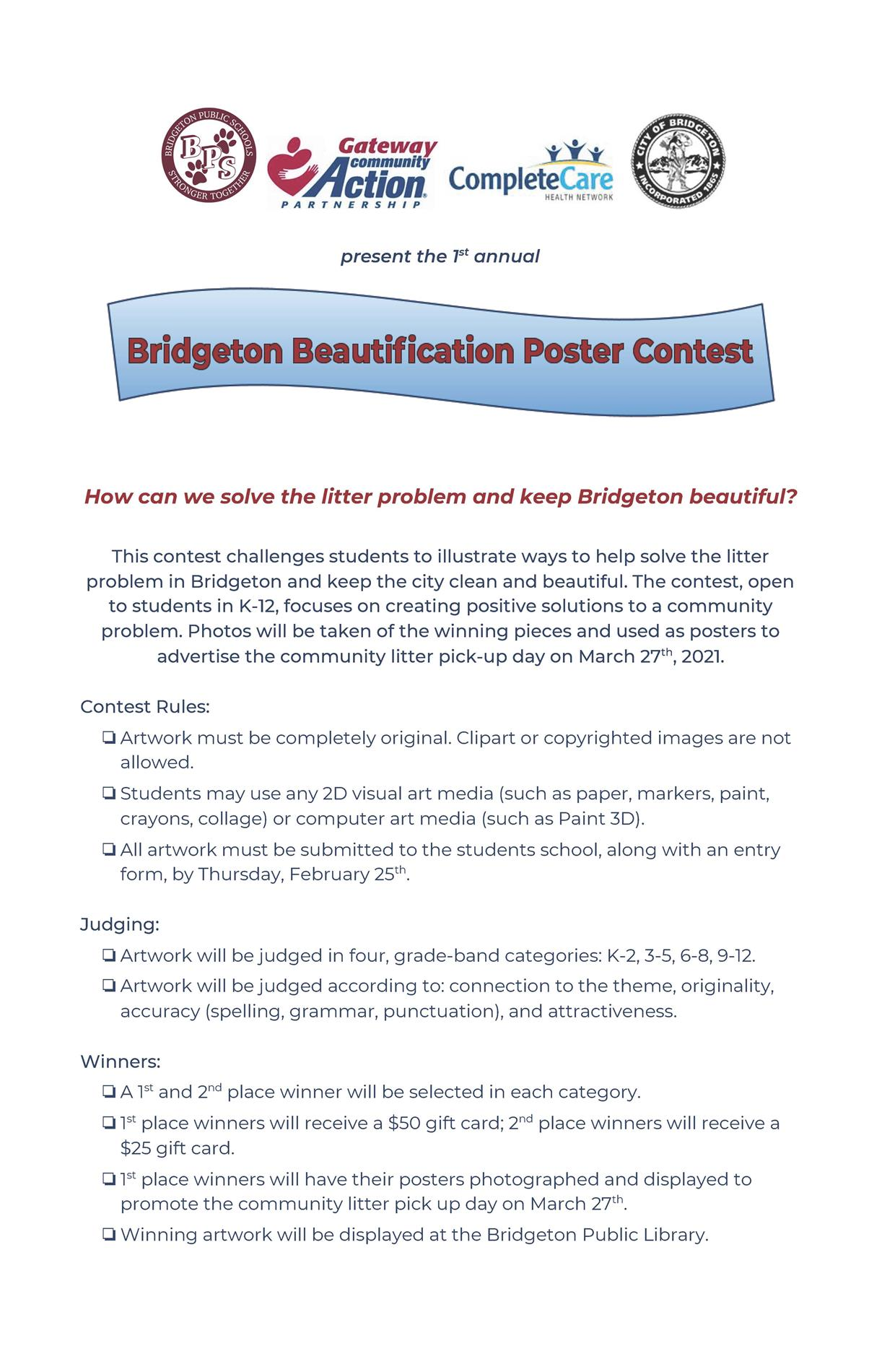 Beautification Poster Flier