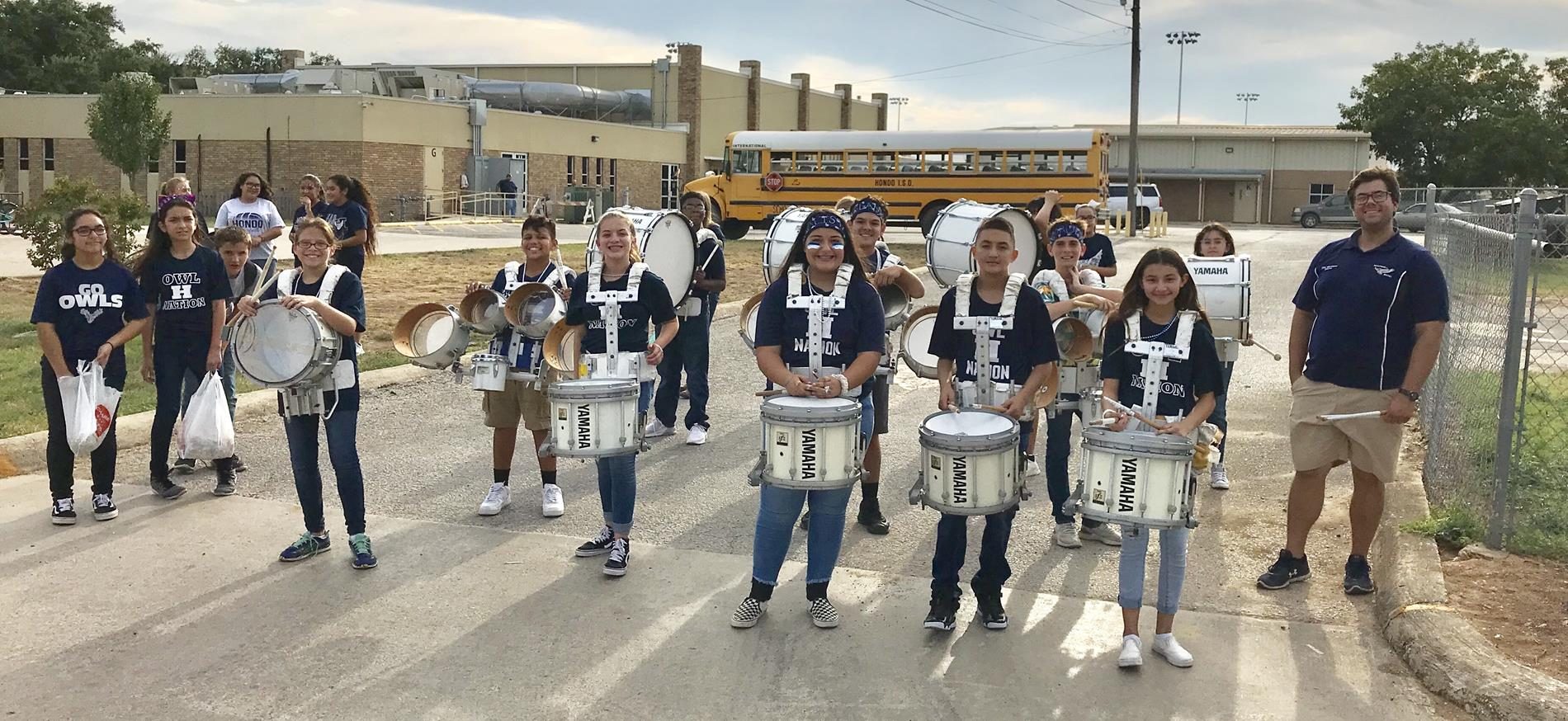 McDowell DrumLine ready for parade