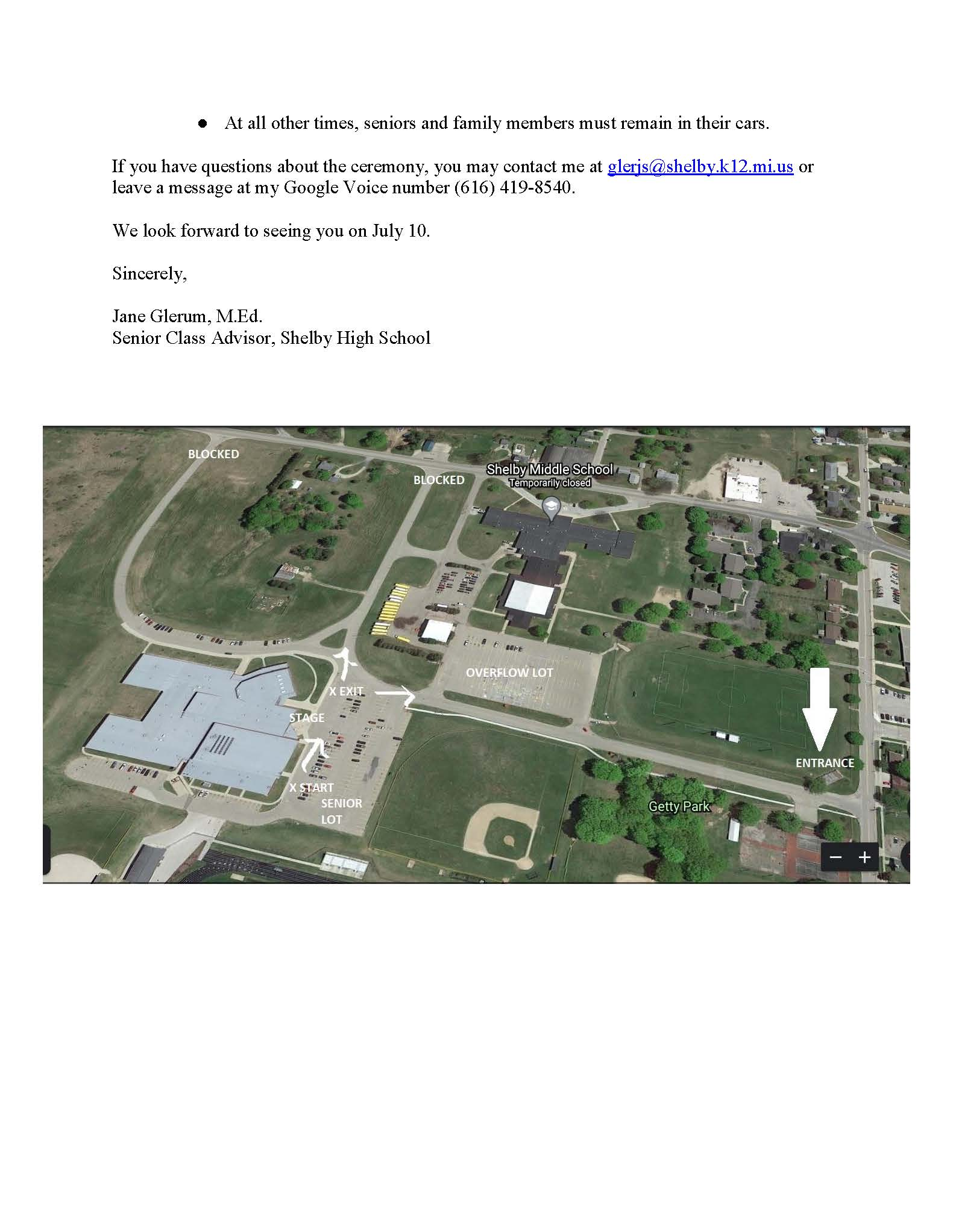 Letter Regarding Graduation