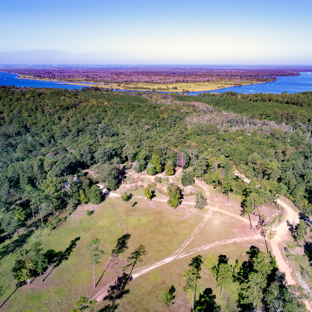 flyover view of Historic Blakeley State Park