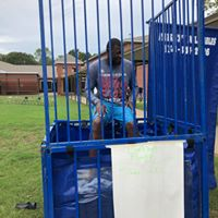 Individuals had an opportunity to dunk the PE coach in the dunking booth!