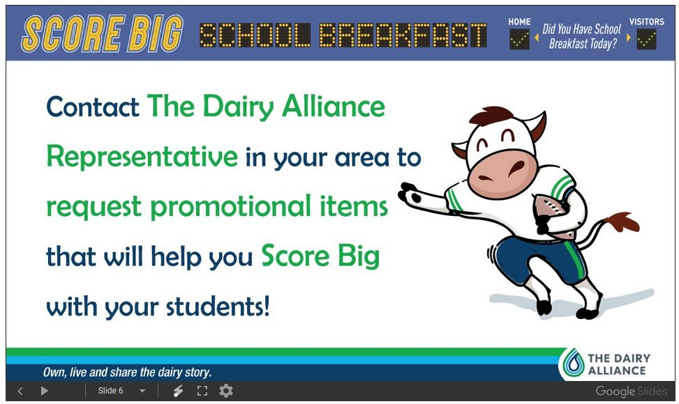 Score Big School Breakfast 6