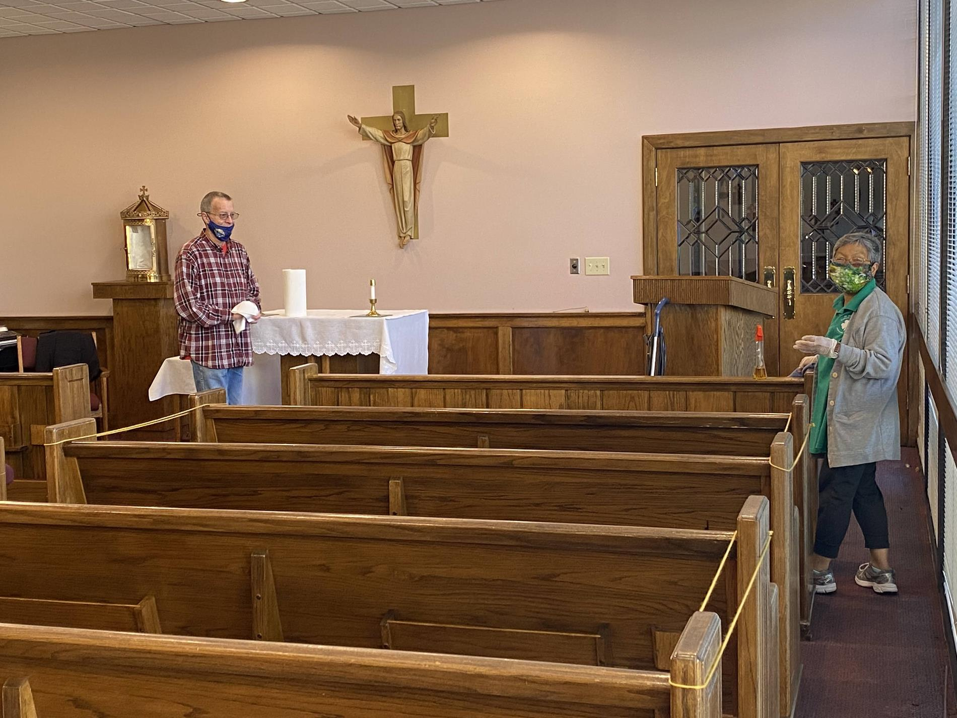 Cleaning in the chapel