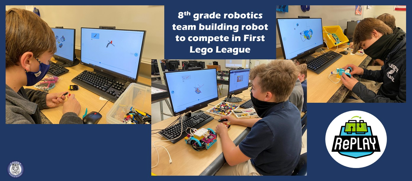 8th grade robotics team building robot for First Lego League