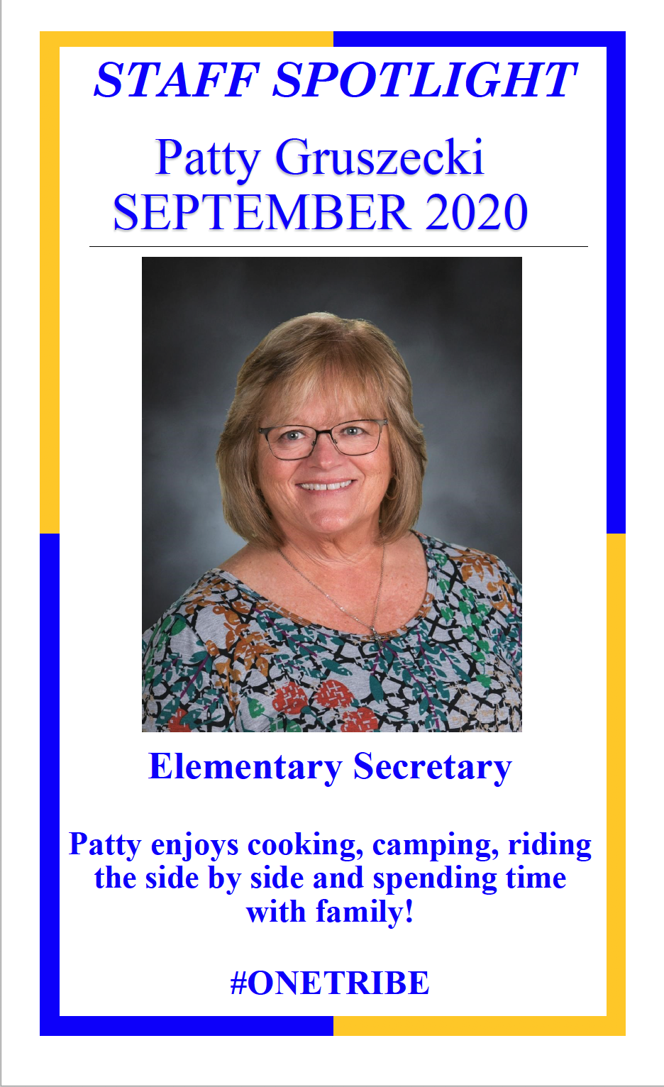 Grusezecki, Sept. 2020 Staff Spotlight