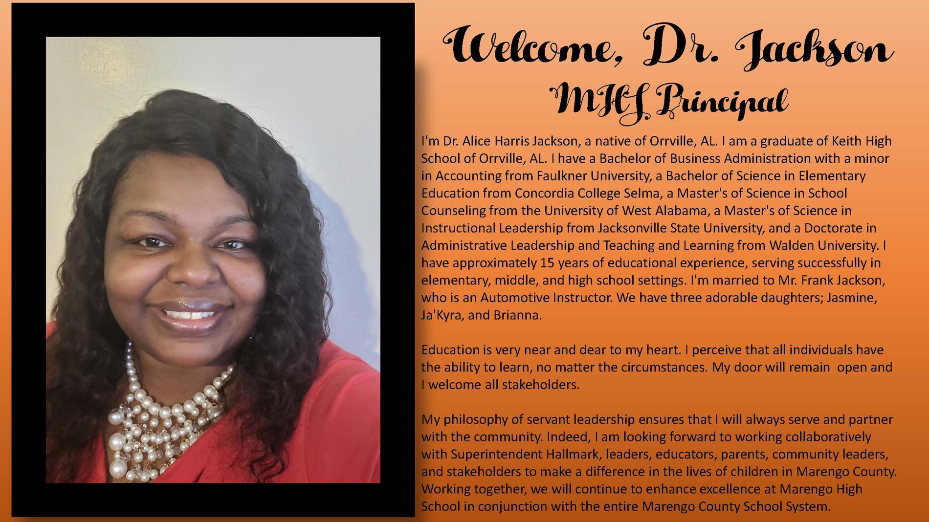 Welcome, Dr. Jackson