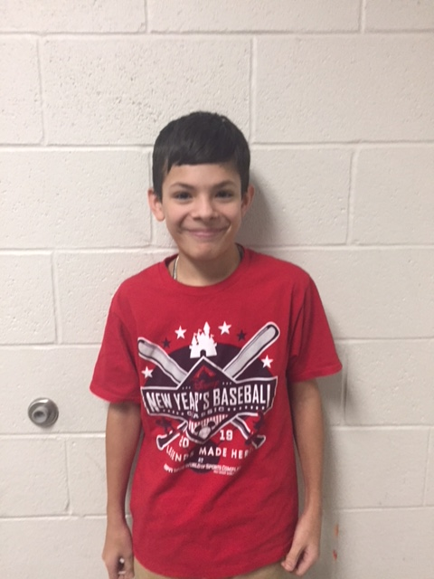 6th Grade Student of the Month Danien (DayDay) Garcia