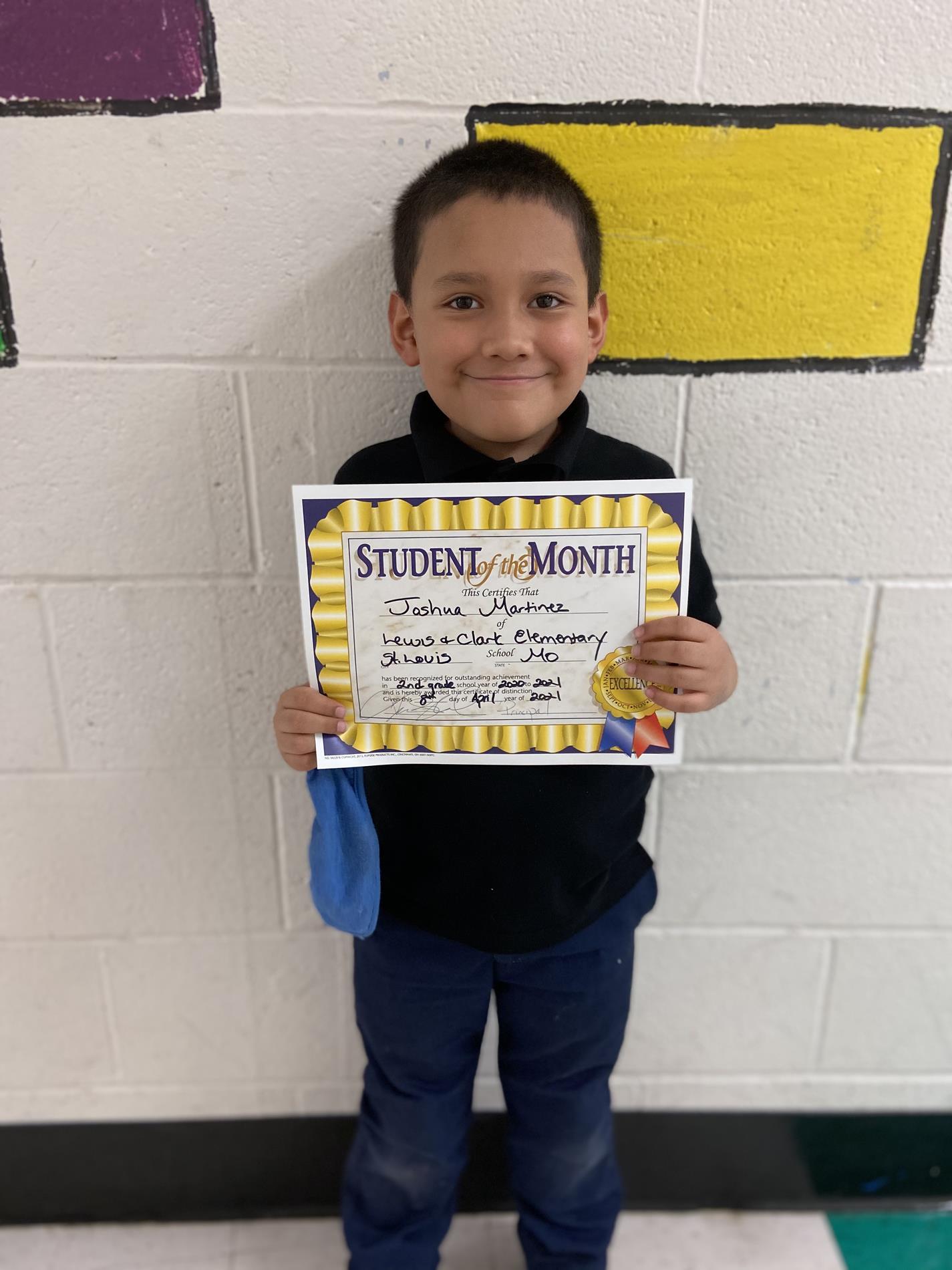 Joshua Martinez 2nd Grade