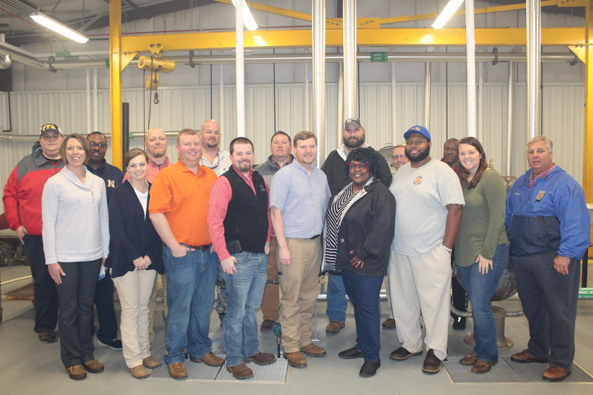 Agriculture Teachers at Argene Claxton Canning Plant