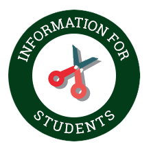 Information for students button