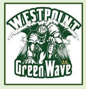 West Point GreenWave Football Logo