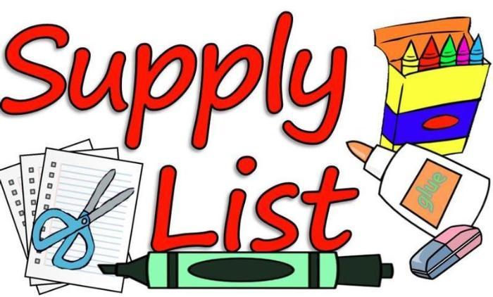 2021-2022 Supply Lists