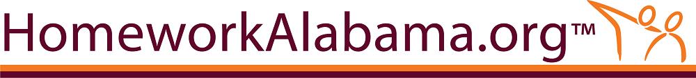 Homework Alabama logo with link to Homework Alabama site