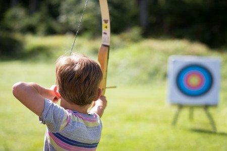 Archers practicing