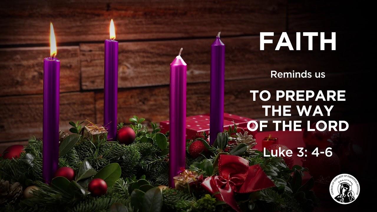 advent candle faith banner
