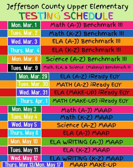 UES Schedule