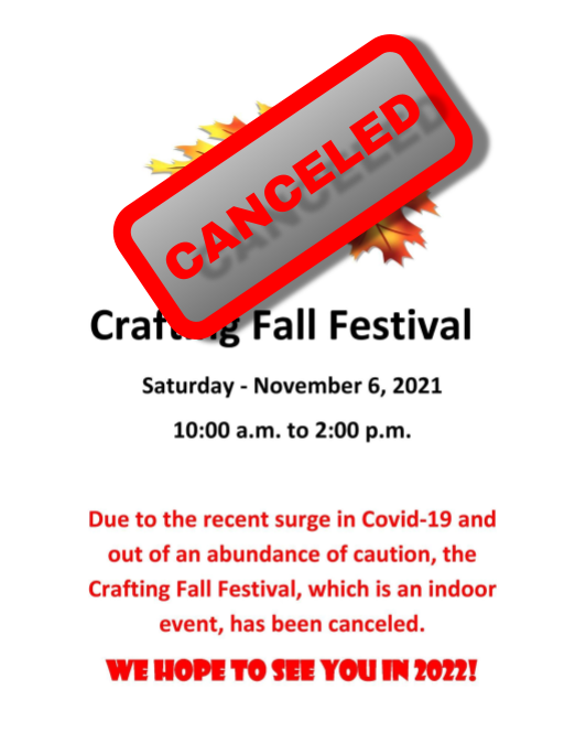 Crafting Fall Festival Canceled