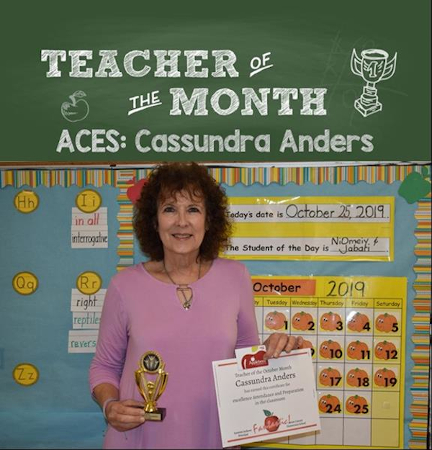 Teacher of the Month October
