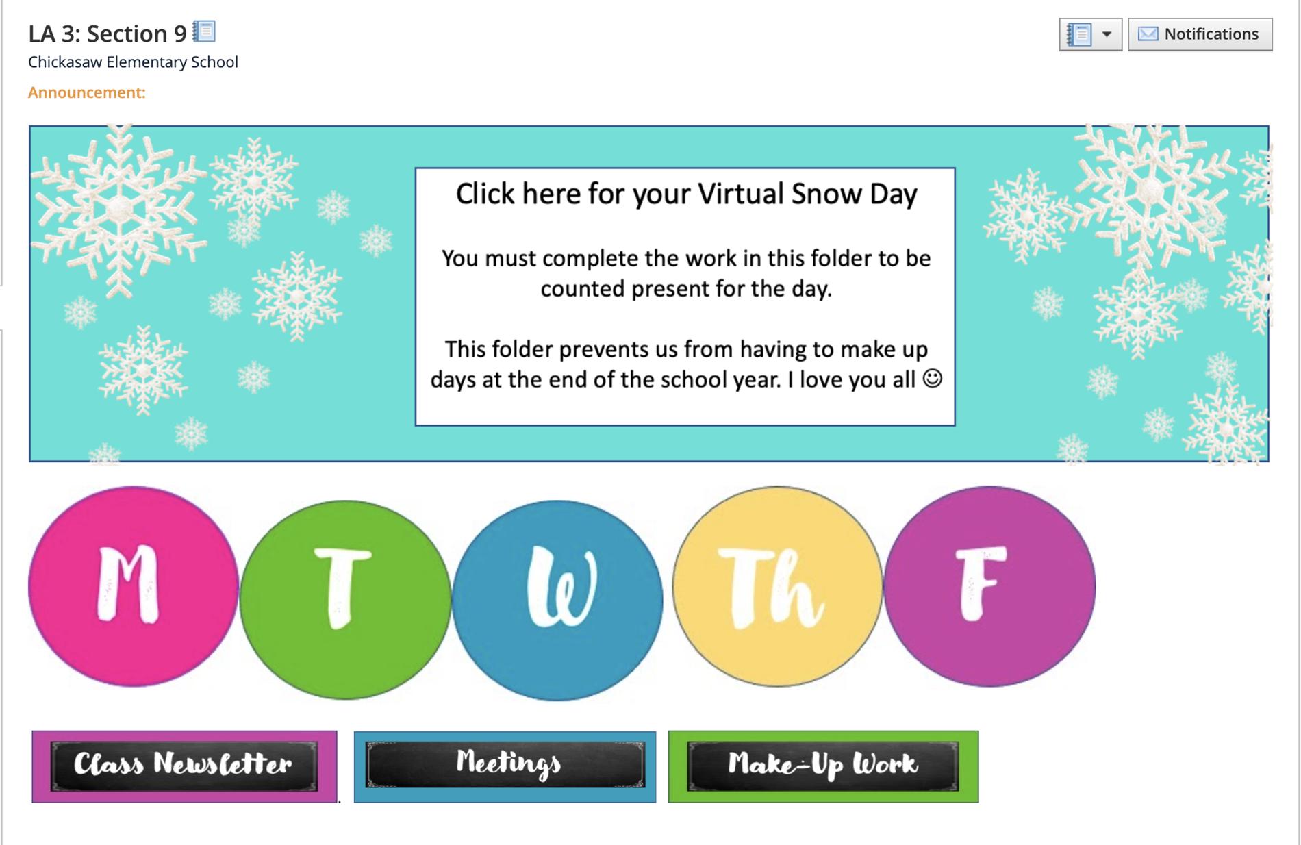 Virtual Snow Days