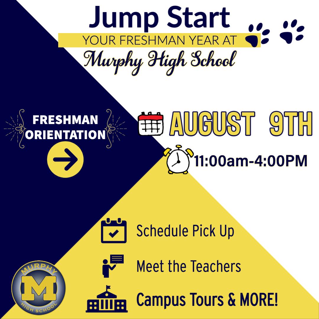 Freshman Schedule/Orientation