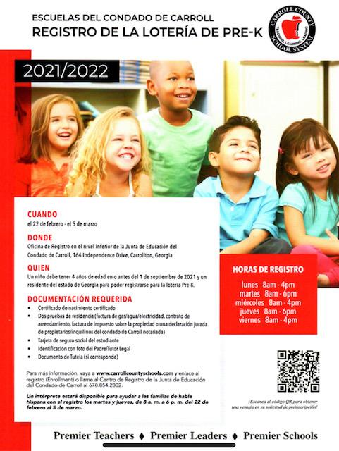 pre k registration flyer