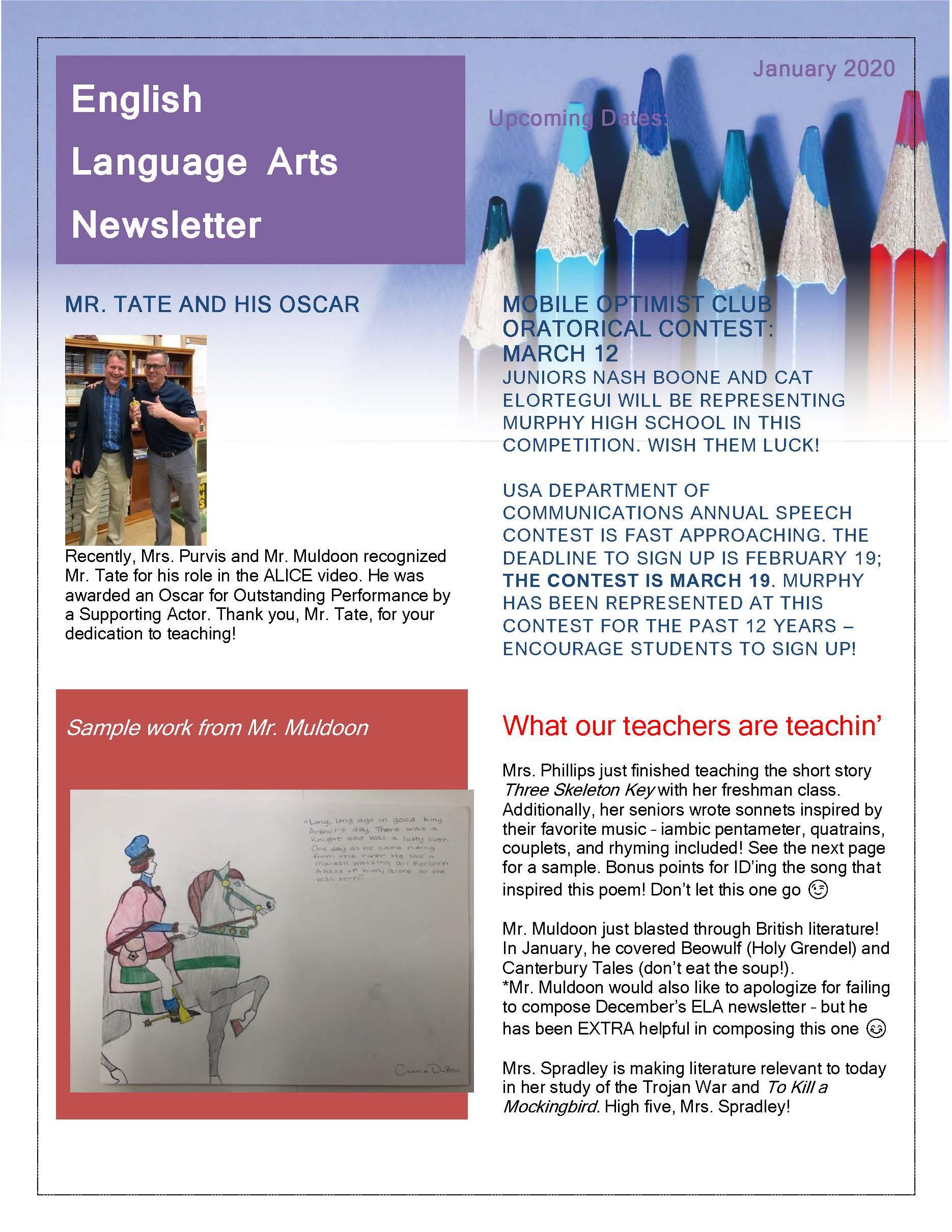 ELA Newsletter January